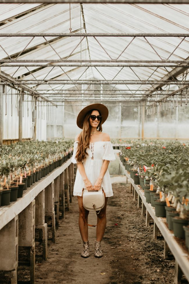 Greenhouse Fashion Photoshoot